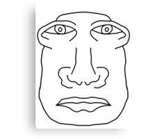 Weird Face  Canvas Print