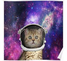 Galaxy Space Kitten Poster