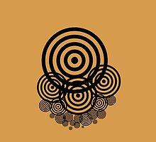 Geometrical design bullseyes by JoAnnFineArt
