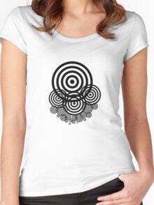 Geometrical design bullseyes Women's Fitted Scoop T-Shirt