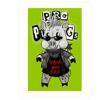 Punk Pig Art Print