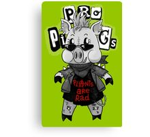 Punk Pig Canvas Print