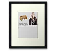 unbox therapy poor review Framed Print