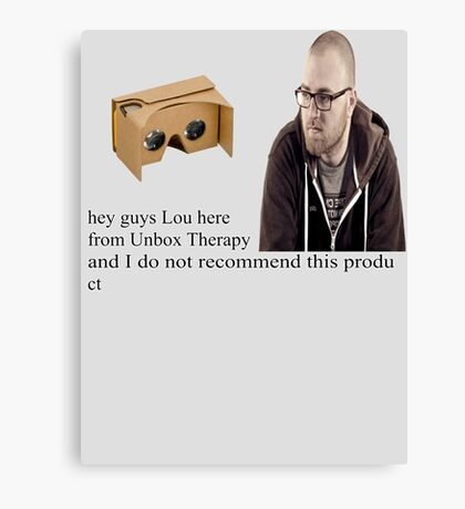 unbox therapy poor review Canvas Print