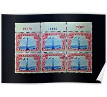 The Five Cent Bi-Color Air Mail Stamp of 1928 Poster