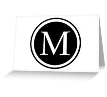 Monogram M Greeting Card