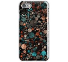 Abstraction #006 Green Black Geometric Circles Triangles iPhone Case/Skin