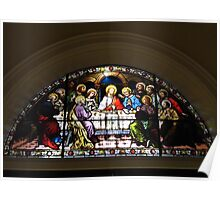 Stained Glass Last Supper Poster