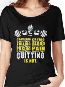 Quitting Is Not Acceptable (Goku Squat) Women's Relaxed Fit T-Shirt