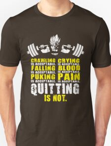 Quitting Is Not Acceptable (Goku Squat) Unisex T-Shirt