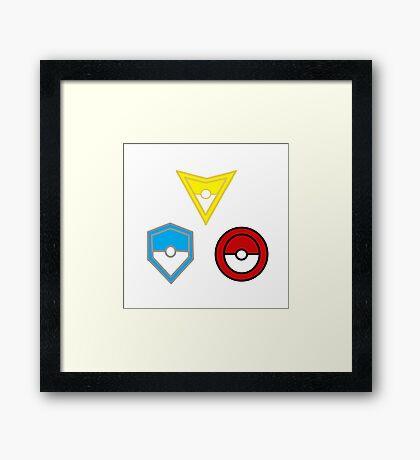 Pokemon Go- United Teams Framed Print