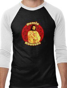 Demis Roussos - mythic Greek singer , amazing design! Men's Baseball ¾ T-Shirt
