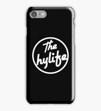 Samsung and iPHONE The Hylife Circular Logo - Black iPhone Case/Skin