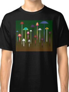 Colored Mushroom Forest Classic T-Shirt