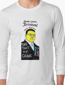 Blind Lemon Jefferson Blues Folk Art Long Sleeve T-Shirt