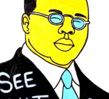 Blind Lemon Jefferson Blues Folk Art Sticker