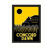 Concord Dawn Art Deco Art Print