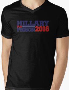 Hillary Clinton For Prison 2016 Mens V-Neck T-Shirt