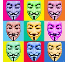 GUY FAWKES PROTEST Photographic Print