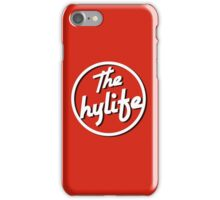 Samsung and iPHONE The Hylife Circular Logo -Shadow Black iPhone Case/Skin