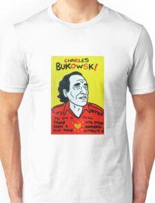 Charles Bukowski Folk Art Unisex T-Shirt