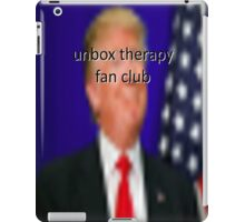 donald trump for president of the unbox therapy fanclub iPad Case/Skin