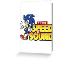 Sonic - The Speed of Sound Greeting Card