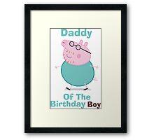 Daddy (HBD) Boy Framed Print