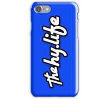 iPHONE The HyLife Lifestyle - Blue with Black Edge iPhone Case/Skin