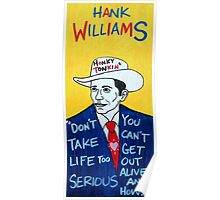 Hank Williams Country Folk Art Poster