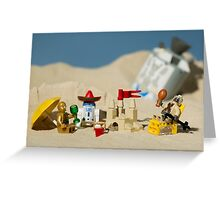 Lego Tatooine picnic Greeting Card
