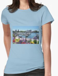 Beautiful Victoria Harbor Womens Fitted T-Shirt