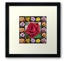 Dreamy Roses Collage Framed Print