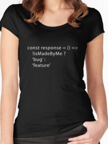 Developer Response Function (Javascript) Women's Fitted Scoop T-Shirt