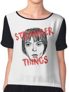 Jonathan Byers Stranger Things Fan Art Chiffon Top