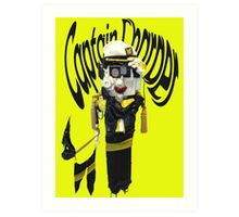 Captain Charger Puppet  Walking a Dog  Art Print