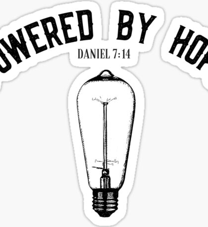 Powered By Hope Sticker