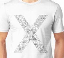 Botanical Alphabet Letter X Unisex T-Shirt