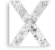 Botanical Alphabet Letter X Canvas Print