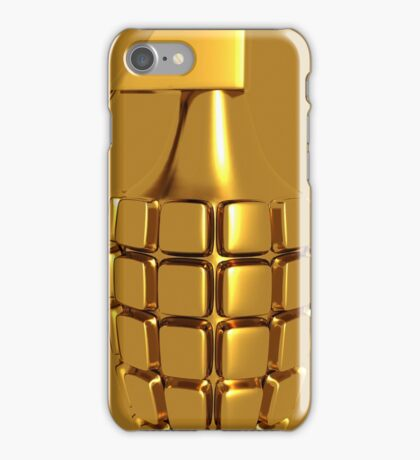 Golden Hand Grenade   iPhone Case/Skin