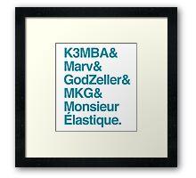 Helvetica Hornets Framed Print