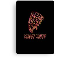 What Diet? Yellow & Red Canvas Print