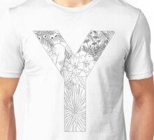 Botanical Alphabet Letter Y Unisex T-Shirt