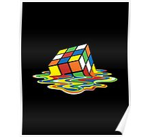 Melting Rubik Cube Poster