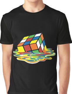 Melting Rubik Cube Graphic T-Shirt
