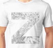 Botanical Alphabet Letter Z Unisex T-Shirt