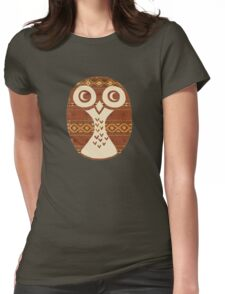 Navajo Owl Womens Fitted T-Shirt