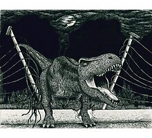 T-Rex Escape Photographic Print