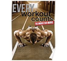 Every Workout Counts (Push-Up) Poster