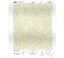 USGS TOPO Map Arizona AZ Groom Creek 20120521 TM Poster